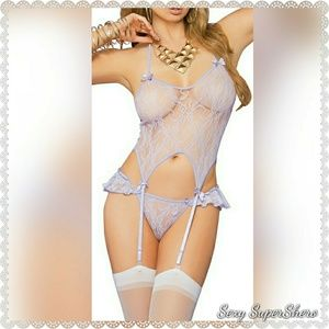 🆕Lovely Lilac 3 pc Camiset Lace Lingerie Set